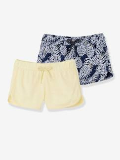 valisevacances-classedemer-Lot de 2 shorts fille