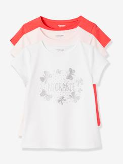 Fille-Lot de 3 T-shirts fille manches courtes