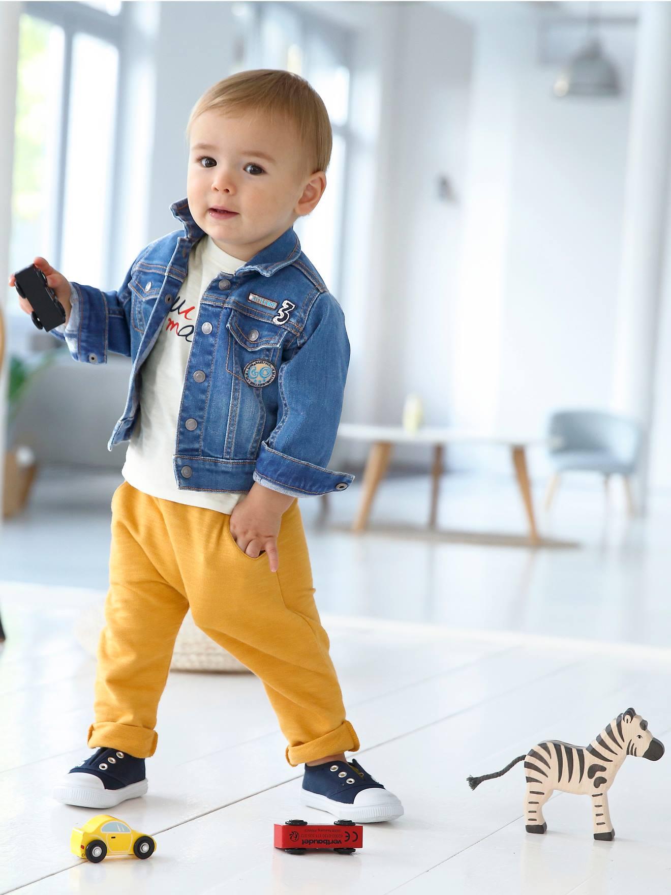 Denim Vertbaudet Baby Jungen Kurzoverall