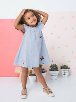 La nouvelle collection 2019-Fille-Robe fille à volant et papillons brodés