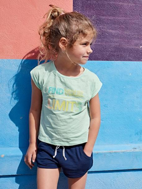 Short sport fille BLEU CIEL+GRIS CLAIR CHINE+MARINE FONCE 11d7cf80993