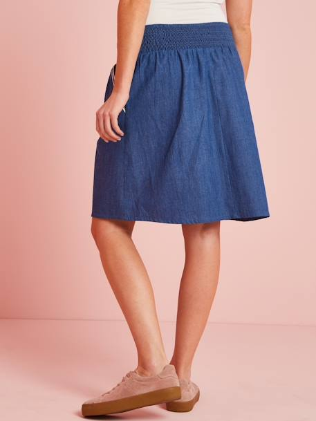 Jupe de grossesse en jean light CHAMBRAY BLEU DENIM