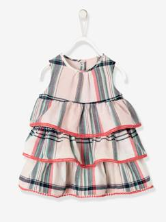 Baby-Kleid, Rock-Ärmelloses Babykleid in Madras-Karo