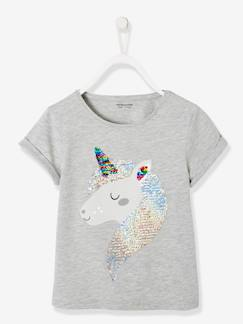 La nouvelle collection 2019-Fille-T-shirt fille à sequins