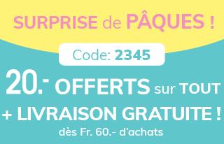 20.- OFFERTS + Livraison gratuite. Code : 2345