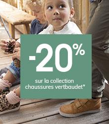 -20% sur la collection chaussures vertbaudet*