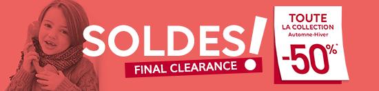 SOLDES ! FINAL CLEARANCE | TOUTE LA COLLECTION Automne-Hiver -50%*