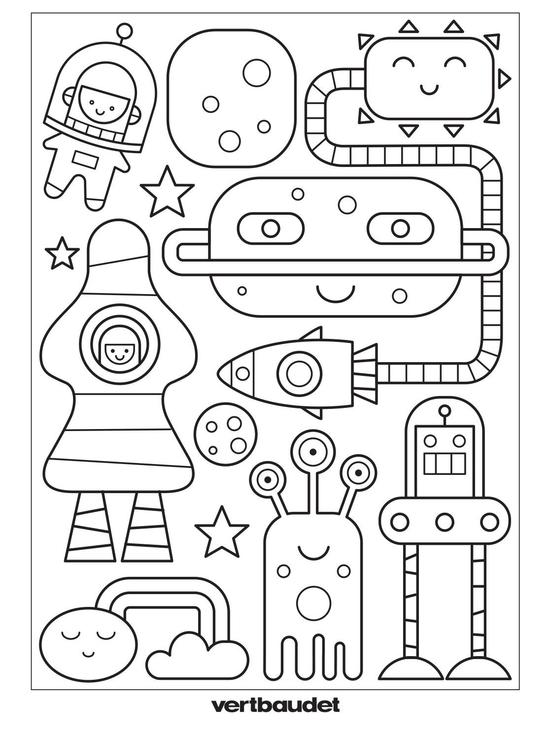 fusees robots a colorier