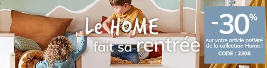 -30% sur votre article préféré de la collection Home ! CODE : 2208