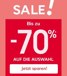 Sale ! Bis zu -70%* auf die Auswahl