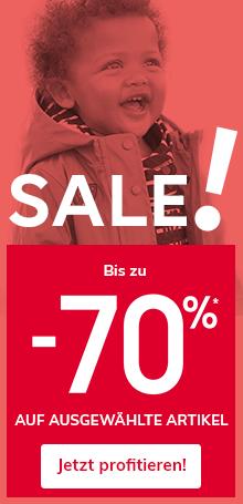 Sale! Bis zu -70% auf ausgewählte Artikel