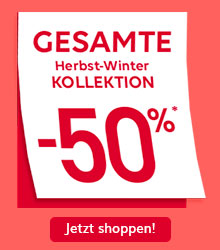 SALE! FINAL CLEARANCE | GESAMTE Herbst-Winter KOLLEKTION -50%*
