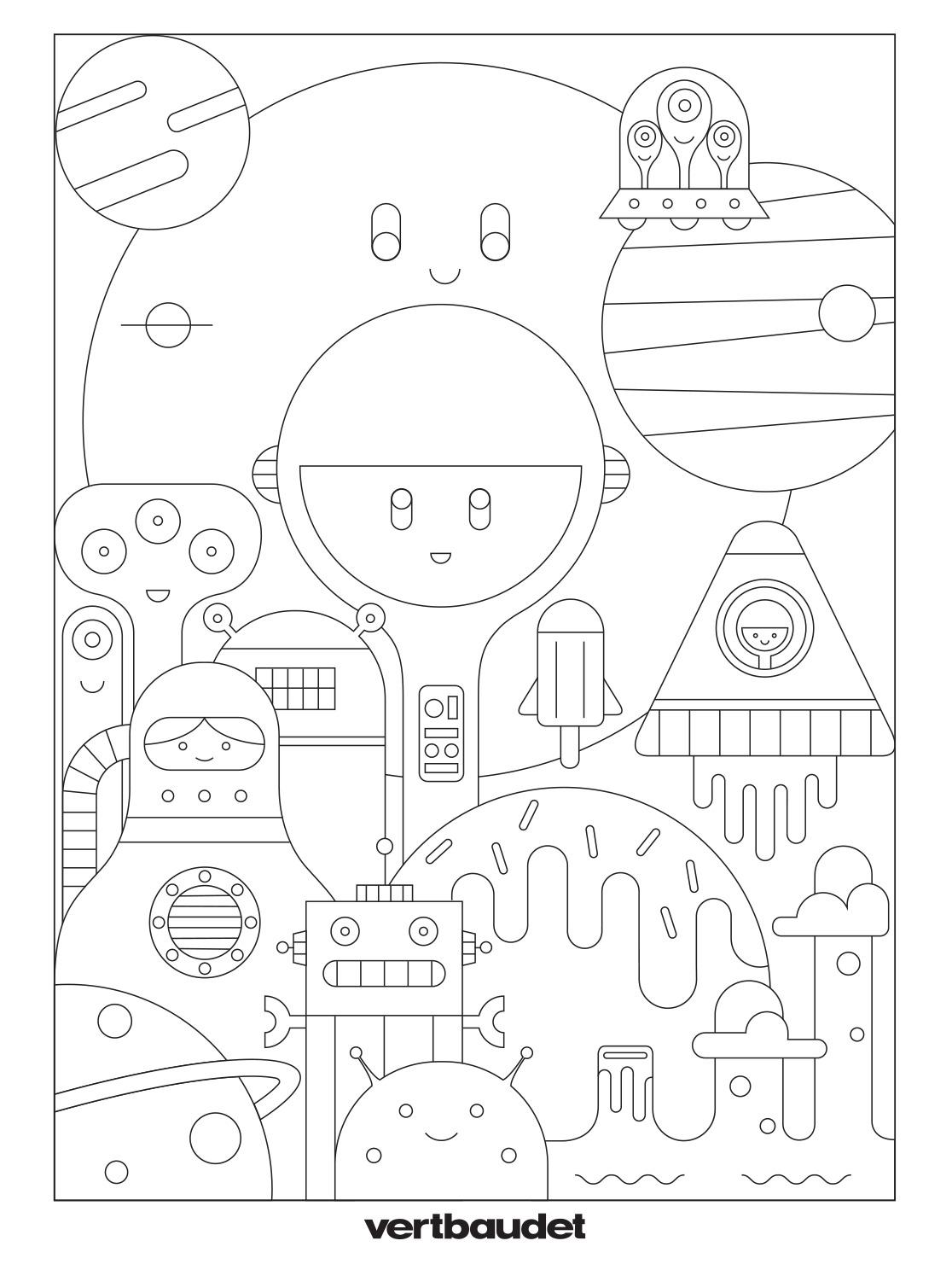 ville du futur a colorier